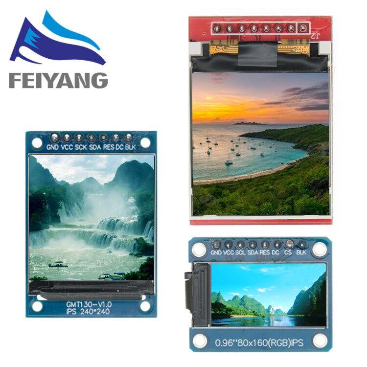 Wyświetlacz TFT 0.96 / 1.3 1.44 Cal IPS 7P SPI HD 65K pełny kolorowy wyświetlacz LCD moduł ST7735 napęd IC 80*160 (nie OLED) dla Arduino