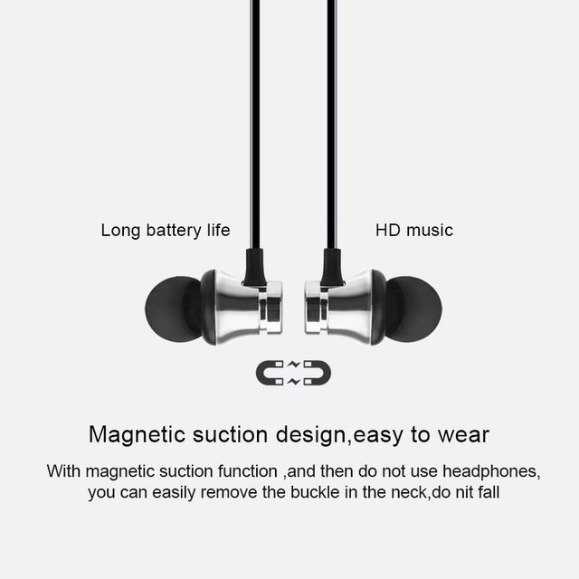 Magnetic Wireless bluetooth Earphone XT11 music headset Phone Neckband sport Earbuds Earphone with Mic For iPhone Samsung Xiaomi 2