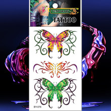 Waterproof Tattoos Realistic Colorful Butterfly Temporary Tattoo Sticker Fake Tatto Men Women Flash Tatouage Hand Back Arm Chest(China)
