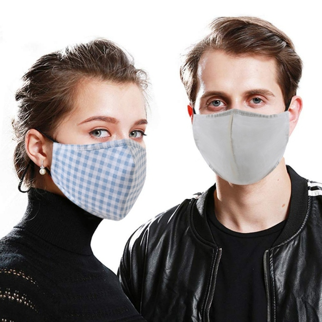 Men women Cotton PM2.5 Mouth Mask Anti Dust Mask Activated Carbon Filter Mouth-muffle Bacteria Proof Flu Face Mask With 1 filter