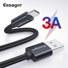 Essager 3A USB Type C Cable Fast Charging For Samsung S10 S9 USB-C Charge Xiaomi mi9 Type-C Quick 3.0 Data