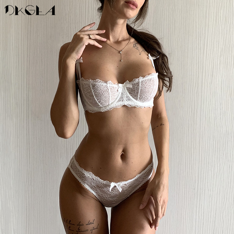 Ультратонкий комплект белья плюс размер бюстгальтеров A B C кружка сексуальный кружевной бюстгальтер прозрачного женского нижнего белья с черной вышивкой|bra set underwear|bra setlace bra set | АлиЭкспресс