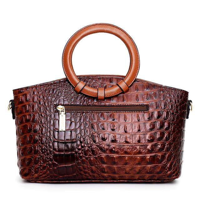 Bolsas de luxo das mulheres sacos de designer crossbody sacos de couro de crocodilo feminino bolsa de ombro das senhoras tote bolsa retro 4