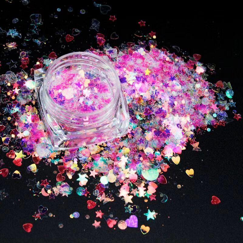 efeito laser 3d lua glitter mix fino 02