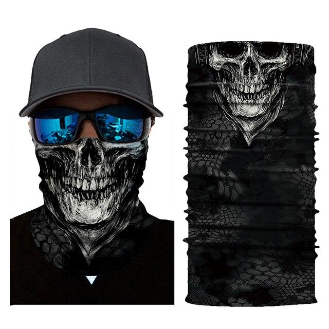 New Motorcycle Face Mask Halloween Scarf Mask face shield Head Scarf Neck Warmer Windproof Sun Mask Balaclava  Biker Masks 2