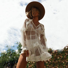 Женское бикини накидка сарафан для девушек прозрачный праздничный