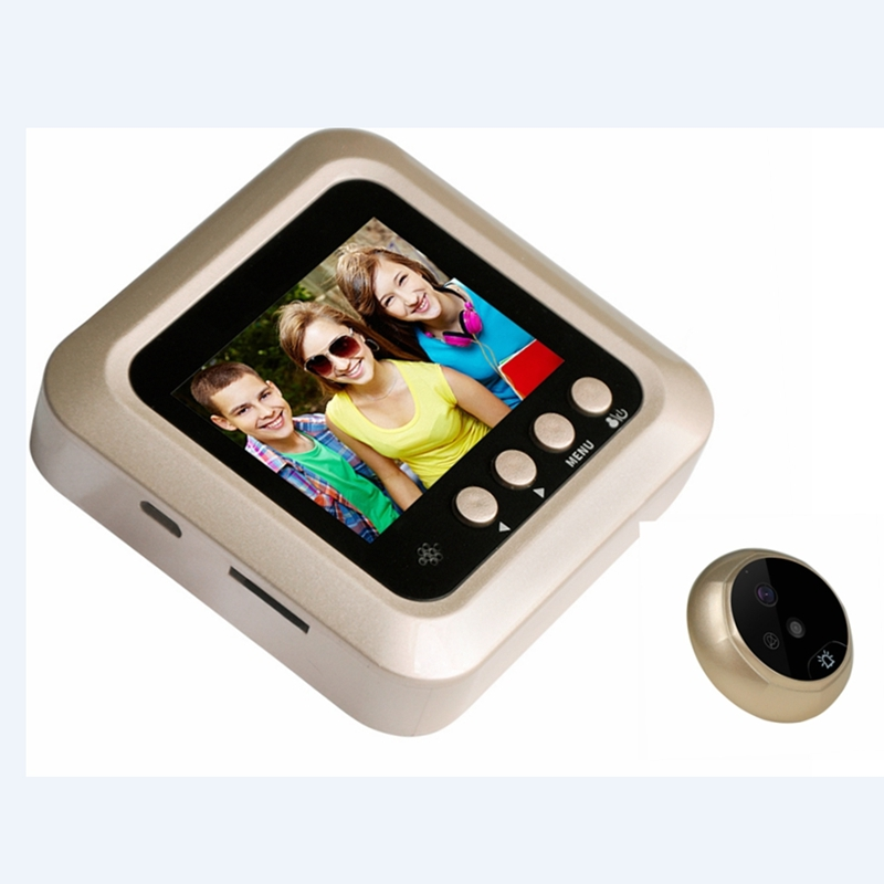 Mini Digital Photo Video Recording Home Security Door Peephole Camera Viewer  PIR Night Vision Wide Angle No Disturb Doorbell W5