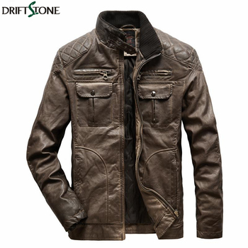 Winter Warm Leather Jacket Men Motorcycle Biker PU Leather Coat Fashion Thicken Cotton Filling Jacket Man Outerwear