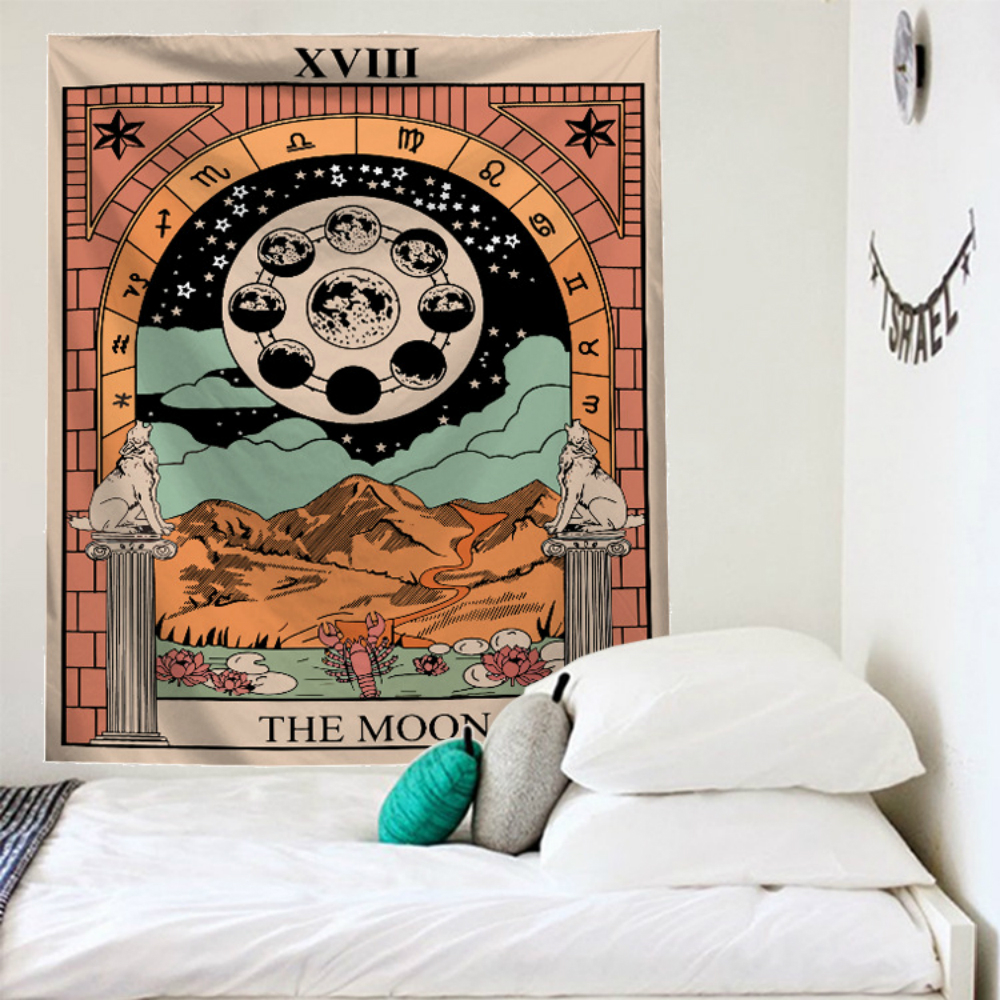 Tarot Divine Mandala Tapestry Wall Hanging Throw Rug Blanket Home Decor Yoga Mat Carpet Wall Cloth Bohemian Hippie Decoration in Tapestry from Home Garden