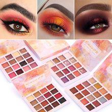 Cmaadu 16 colori Matte Shimmer Eyeshadow Tavolozze di Lunga durata Impermeabile Glitter Sexy Rosso Occhi di Trucco Tavolozze Comestics TSLM2