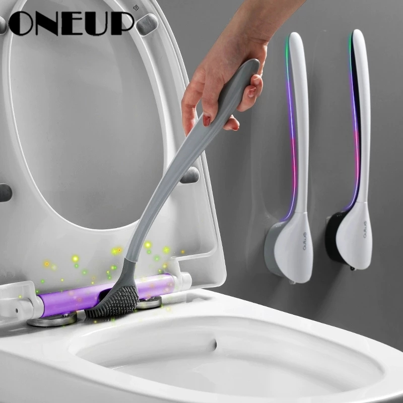 ONEUP New Tongue Toilet Brush Wall Long Handle Cleaning  Brush For Toilet Household Floor Cleaning Tools Bathroom Accessories