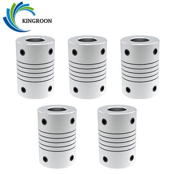 KINGROON D19 * L25 Aluminium sprzęgło wału szczęki sprzęgło wału 5mm do 8mm silnik krokowy CNC łącznik elastyczny wałek sprzęgło wału tanie i dobre opinie CN (pochodzenie) Elastyczny łącznik sprzęgła Aluminium Shaft Coupling 19mm 25mm Flexible Shaft coupler