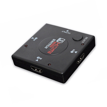 Cabo adaptador hdmi, divisor de cabo adaptador 1.4b 1080p interruptor hdmi 3 em 1 porta de saída para xbox ps3 ps4 hdtv