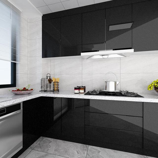 Amovible brillant Stickers muraux paillettes papier peint étanche auto-adhésif chambre décoration bricolage pour réfrigérateur armoires de cuisine
