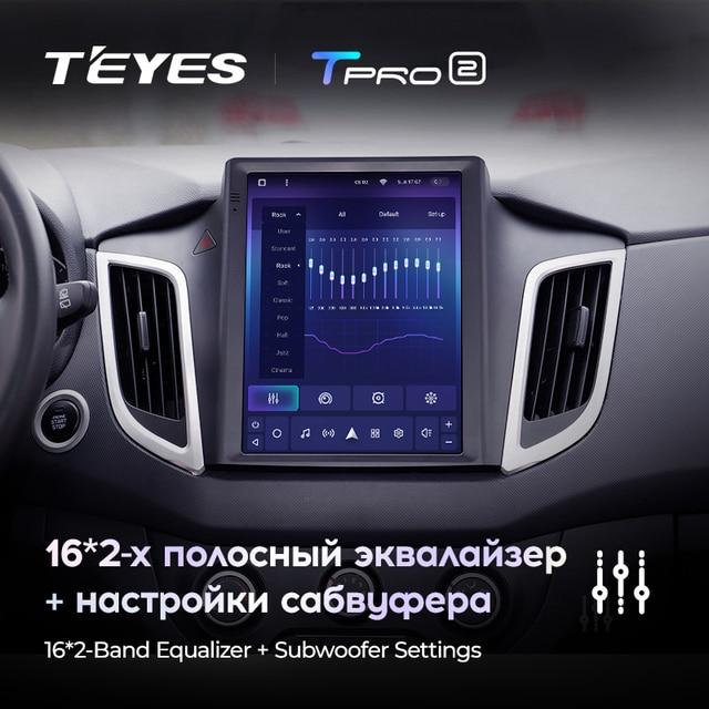 TEYES TPRO 2 Штатная магнитола For Хендай Крета GS For Hyundai Creta IX25 2015 - 2019 For Tesla style screen For Тесла Стиль Экран Android DSP 2DIN автомагнитола 2 DIN GPS мультимедиа автомобиля головное устройство 4