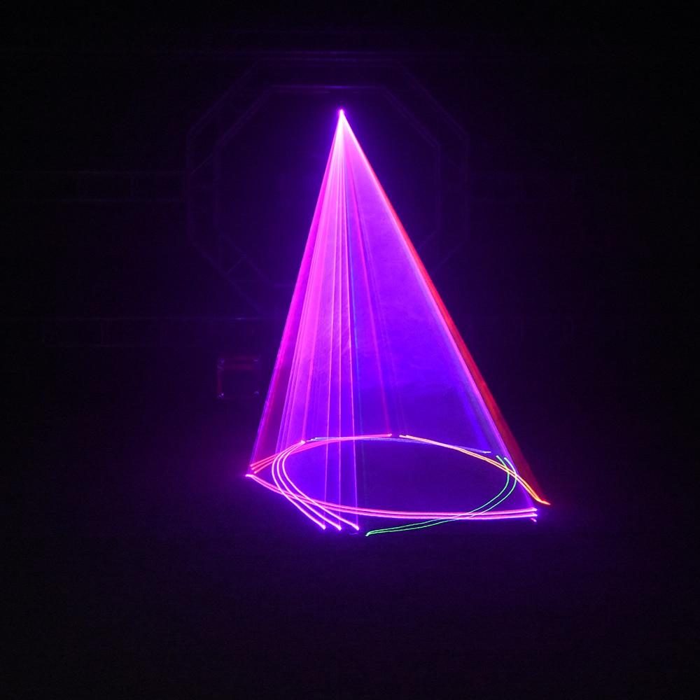 Image 2 - 1400mW DMX 512 Scanner laser light RGB colorful Party Xmas DJ Disco Laser LightsStage Lighting Effect   -