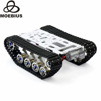 Shock Absorbed Tracked Tank Chassis DIY Smart Car Kit Arduino Remote Robot Platform DIY Robot Parts Education Stem Toy full rc metal tank car chassis all metal structure crawler big size load large obstacle surmounting tank chassis tracked vehicle