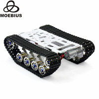 Shock Absorbed Tracked Tank Chassis DIY Smart Car Kit Arduino Remote Robot Platform DIY Robot Parts Education Stem Toy