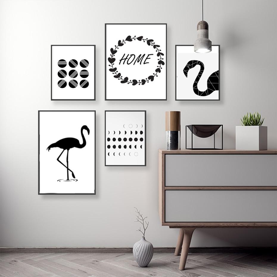 Hitam Putih Skandinavia Abstrak Kanvas Lukisan Minimalis Nordic Poster Cetak Grafis Dinding Seni Gambar Ruang Tamu Dekorasi Rumah Art Pictures Picture For Living Roomwall Art Picture Aliexpress
