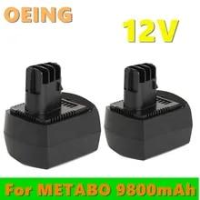 2Pcs 3000mAh 12V Ni-MH Akku für Metabo BZ12SP BS12SP BSZ12 Impuls ULA ULA9.6-18