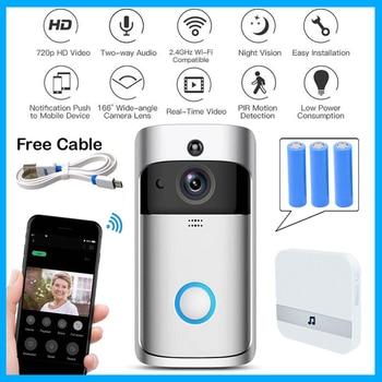 Wifi campanello Della Macchina Fotografica Smart WI-FI di Video Citofono Campanello Video di Chiamata Per Gli Appartamenti IR di Allarme Senza Fili di colore Telecamera di Sicurezza lente