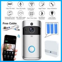 Wifi timbre de la Cámara Smart WI-FI Video intercomunicador Puerta de llamada de vídeo para apartamentos IR alarma inalámbrica de color cámara de seguridad de la lente