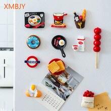 3d холодильник магнитные наклейки смолы мультфильм милый стикер