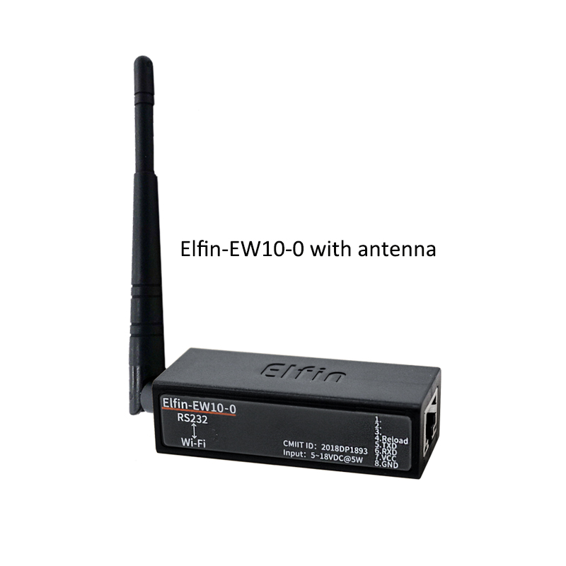 Wireless Networking Devices Modbus TPC IP Function RJ45 RS232 To WIFI Serial Server Elfin-EW10 / Elfin-EW10-0