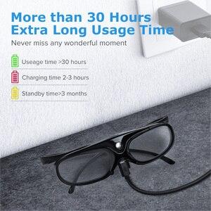 Image 4 - 2 sztuk aktywna migawka 96 144HZ akumulator 3D okulary dla BenQ Acer X118H P1502 X1123H H6517ABD Optoma JmGo V8 XGIMI projektor