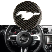 סיבי פחמן רכב פנים הגה פנל כיסוי לקצץ מדבקת קישוט לפורד מוסטנג 2015 2016 2017 2018 2019