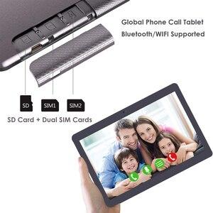 Image 4 - 2020 neue 10 zoll 3G Telefon Tablet PC Quad Core 32GB eMMC Lagerung Dual SIM Karten 5,0 MP kamera 1280x800 IPS Androd 9,0 tablet 10