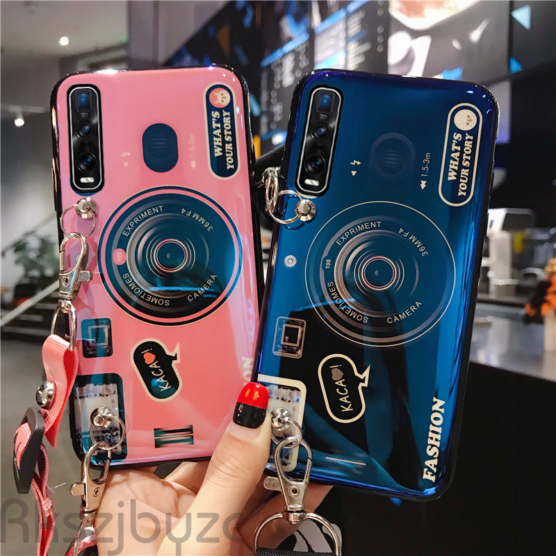 Camera <font><b>Case</b></font> for <font><b>OPPO</b></font> A9 <font><b>A5</b></font> <font><b>2020</b></font> A11X Reno 3 Pro Reno2 Z Find X2 Pro F11 A91 Back Cover for Realme X50 X2 5 Pro XT C3 With Strap image