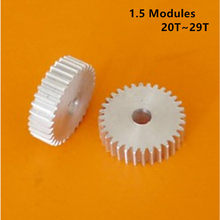1.5 Modules 20/21/22/23/24/25/26/27/28/29T Tooth Bore 6-20mm Aluminium Alloy Straight Gear without steps