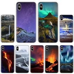Мягкий чехол для Huawei P8 P9 P10 P20 P30 P Smart 2019 Honor Mate 9 10 20 8X 7A 7C Pro Lite wonderes of Nature volcano iceland