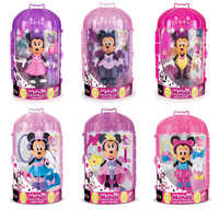Original disney Mickey Minnie Mouse Clubhouse Girl play house toys DIY princess Dress up figures kids gift