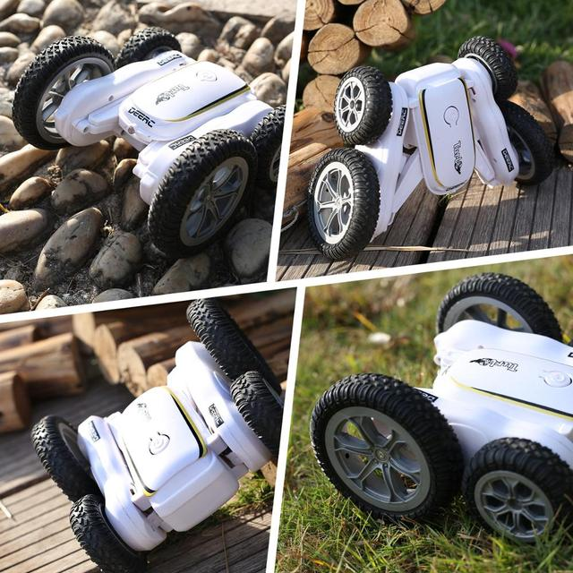 DEERC RC Car 4WD Off Road High Speed RC Crawler Stunt Car Toys For Children Drift Buggy 360° Rotating Flips Vehicles 50 Mins 2