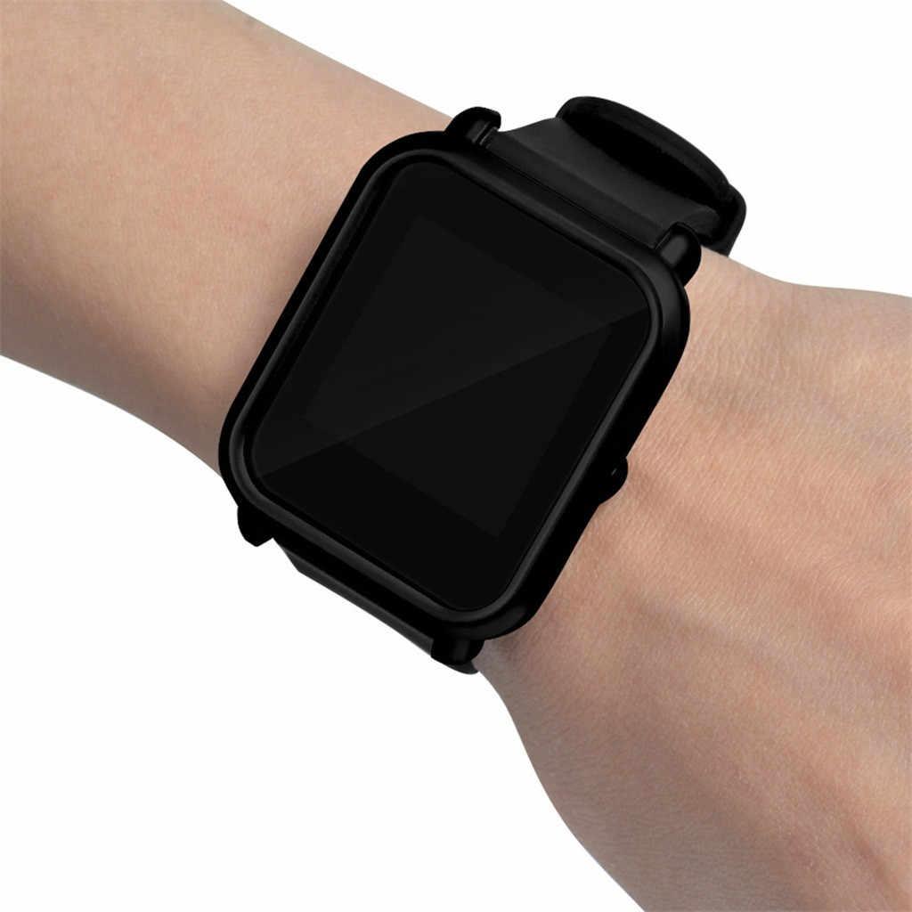 Защитный чехол-накладка + Защитная пленка для экрана для Xiaomi/Huami Amazfit Bip Youth Watch тонкий цветной Чехол-рамка #25