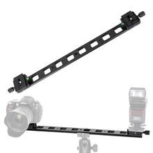 Manbily PU480 Quick Release Plate Lengthened 48cm Double QR Plate camera mounting bracket for Tripod BallHead