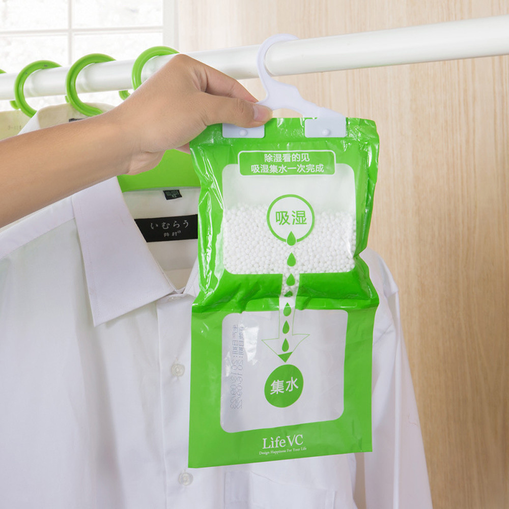 190g Interior Dehumidifier Desiccant Damp Storage Hanging Bags Wardrobe  Wardrobe Desiccant Packet Moisture Absorbent Bag