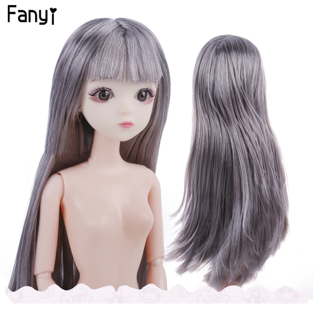 Big Sale  Plastic Ball Joint 30 CM Doll Hair Girls Toys Eyes bjd with Straight and Wavy Wig Girl Doll Toy