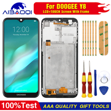 New Touch Screen LCD Display For Doogee Y8 Digitizer Assembly With Frame Replacement Parts+Disassemble Tool