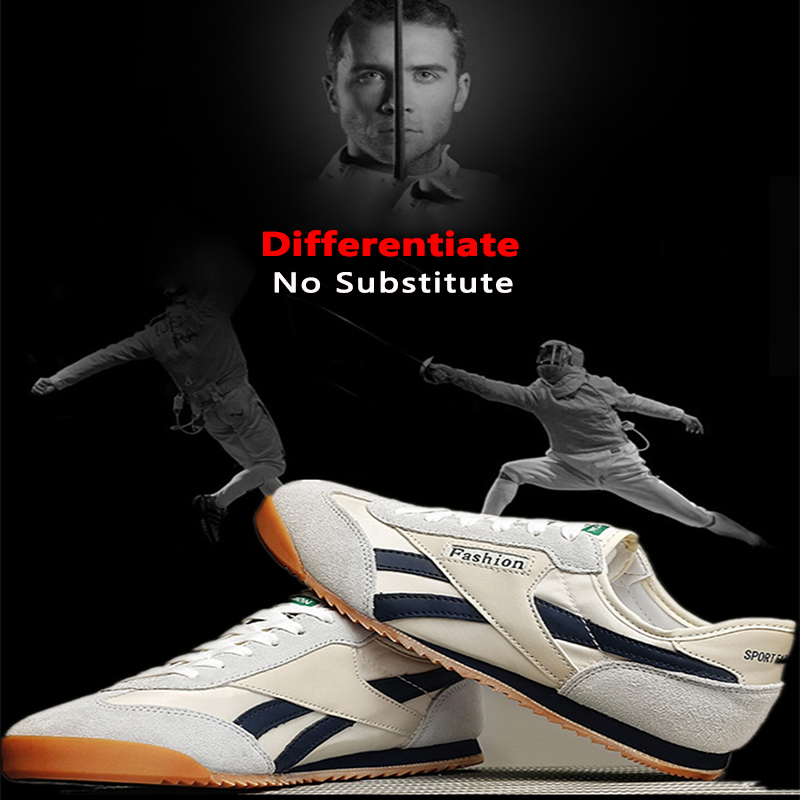 Men Women Professional Fencing Shoes Genuine Leather Fencing Shoes Adult Fencing Sneakers Competition Training Shoes
