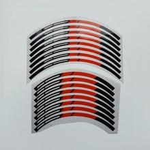 KUNGFU GRAPHICS Custom Motocross Décor Wheel Rim Stickers 21 x 18 Self Adhesive Vinyl Decals, Red Black