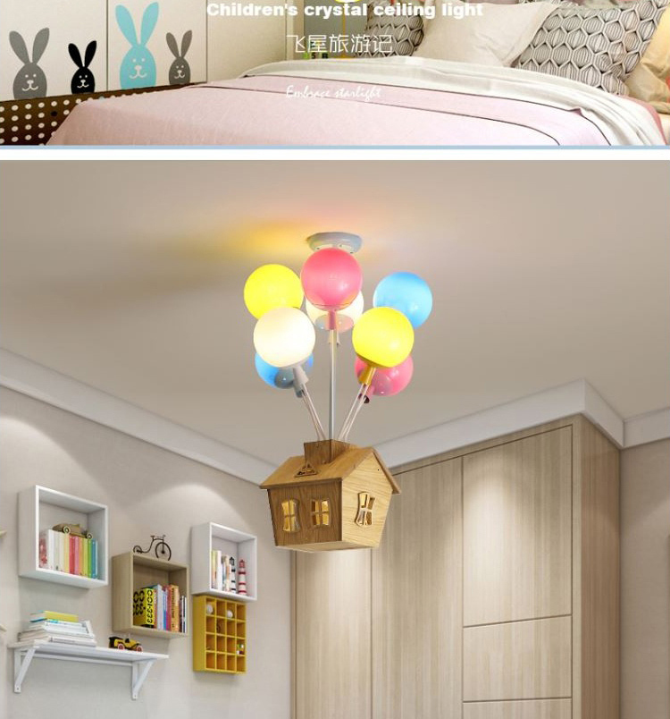 Hfa4899c699784c7d9e29eecf4f7a1864R Ceiling light Childrens room living room restaurant dining room decorative lights for home kids simple Modern led ceiling lamp