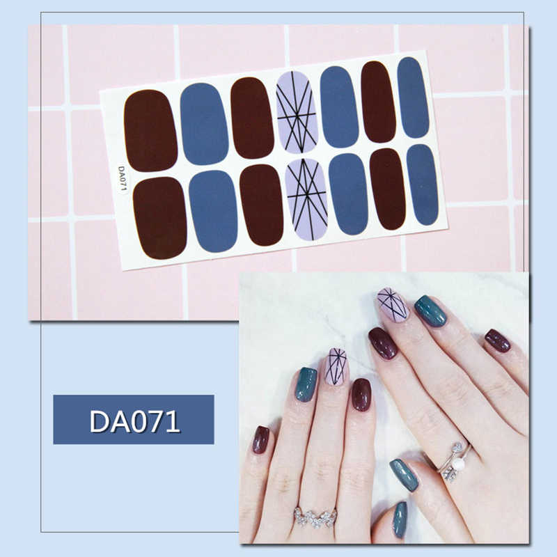 20 Stijl Diy Volledige Cover Nail Stickers Wraps Valse Nail Tips Nail Strips Nail Sticker Decal Faux Ongles Korea Japan nail