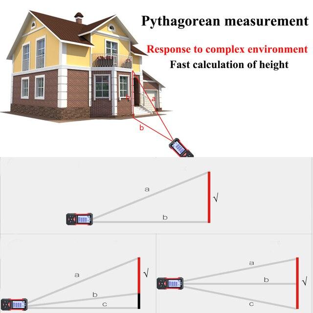 Купить лазерный дальномер teclaser цифровой лазерный 40 м 60 100 измерительная картинки цена