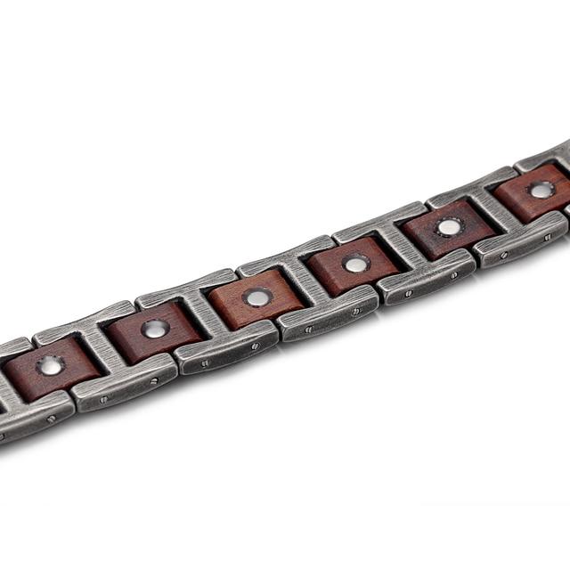Hfa48af8da376484f831c6ef03133e081x - Zebrawood Magnetic Stainless Steel Bracelet