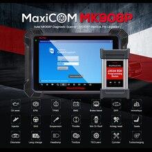 Autel maxicom mk908p profissional scanner automotivo em portugues ecu codificação j2534 programador obd2 ferramenta de diagnóstico do carro scanner programador de chave de carro pk maxisys elite ms908 pro