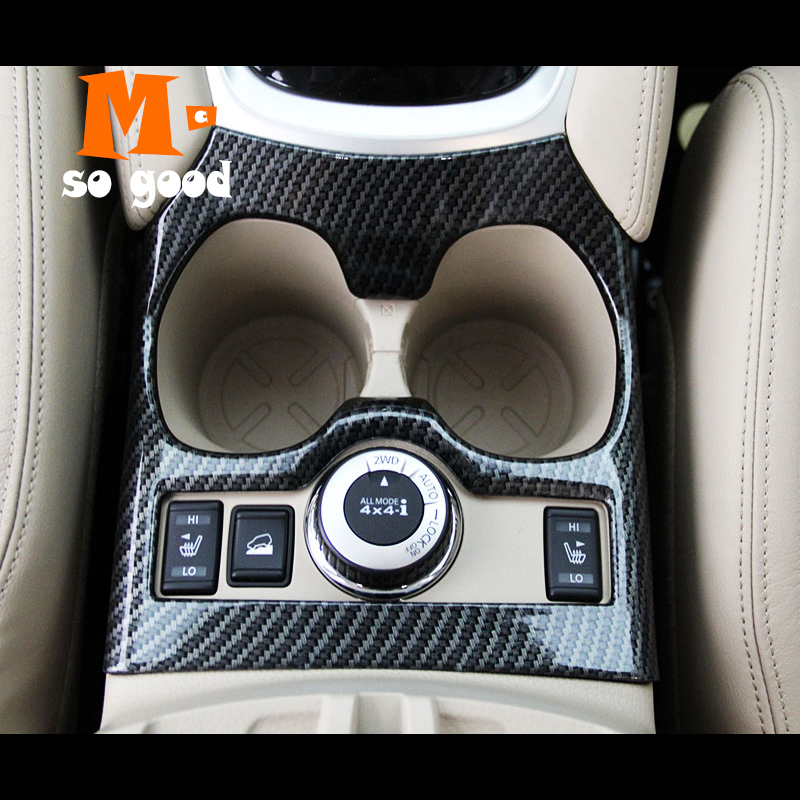 Interior Accessories For Xtrail X-Trail X Trail T32 Rogue 2014 2015-2016 n Fiber Car Water Cup Holder Cover