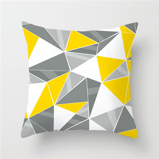 Yellow Diamond Wave Cushion Covers Geometric Throw Pillow Case Homezania